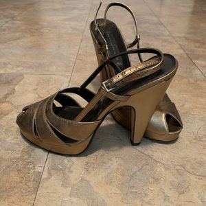 Gold platform heels size 7.5